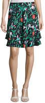 Kate Spade Jardin Tiered Stretch Jersey Skirt, Black