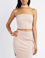 Charlotte Russe Choker Neck Crop Top