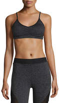 Koral Activewear Element Sports Bra, Dark Gray Heather/Black