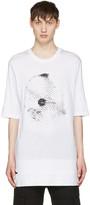 Helmut Lang White Disco Ball Logo T-shirt