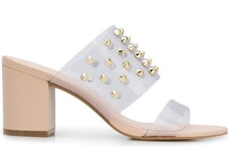 Carvela Transparent Panel Studded Sandals