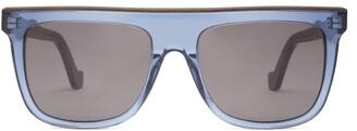 Loewe D-frame Acetate And Metal Sunglasses - Mens - Blue
