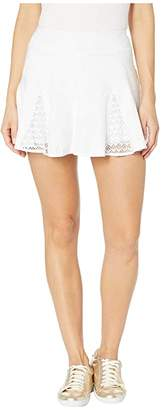 Lilly Pulitzer Coquina Tennis Skort (Resort White Nylon Tennis Monkey Knit Jacquard) Women's Skort