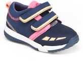 Step & Stride Navy & Pink Dual-Strap Warwick Sneaker - Kids