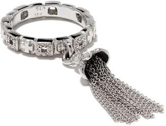 Loree Rodkin 18kt White Gold Tassel Diamond Ring