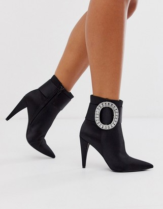 ASOS DESIGN Eclectic diamante buckle boots