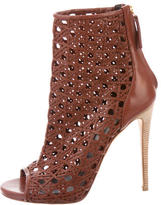 Giuseppe Zanotti Leather Caged Booties