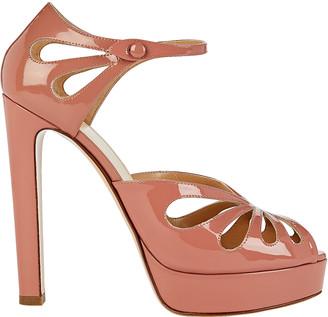 Francesco Russo Patent Leather Platform Sandals