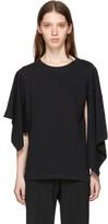 J.W.Anderson Black Asymmetric Drape T-shirt
