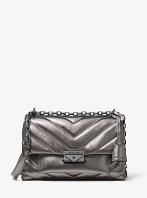 MICHAEL Michael Kors Cece Medium Quilted Metallic Leather Convertible Shoulder Bag