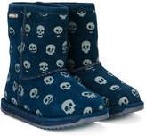 Emu skull print boots