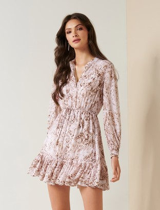 Forever New Juliette Petite Shirt Dress - Light Mocha Snake - 10