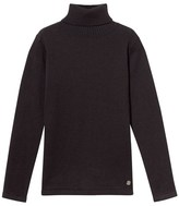 Mayoral Black Knit Polo Neck Top