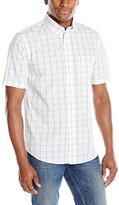Dockers Short Sleeve Check Button Down Collar Shirt