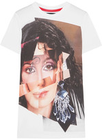 House of Holland Cher Printed Cotton-jersey T-shirt - White