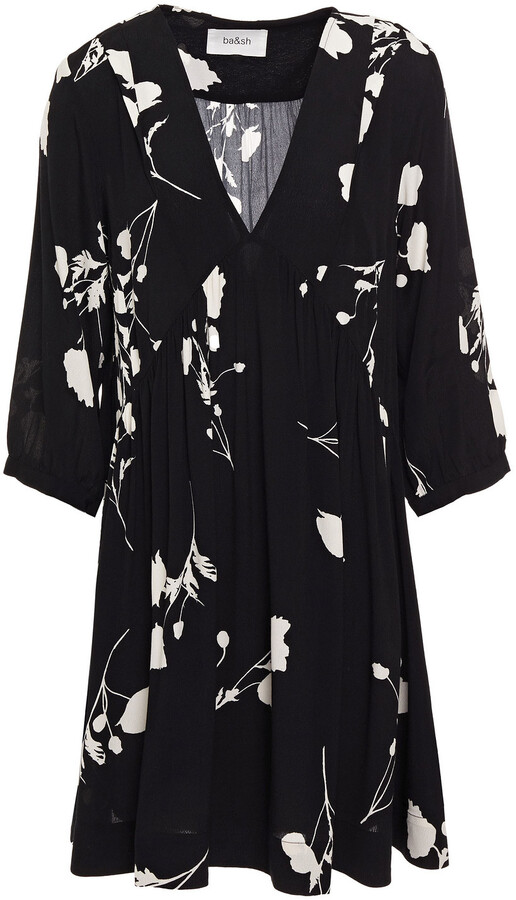 Thumbnail for your product : BA&SH Pansy Gathered Floral-print Crepe Mini Dress