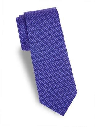 Saks Fifth Avenue Made In Italy Flower Silk Tie
