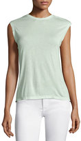 Halston Sleeveless Draped-Back Top, Pistachio