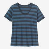 Toast Block Stripe Scoop Neck Tee