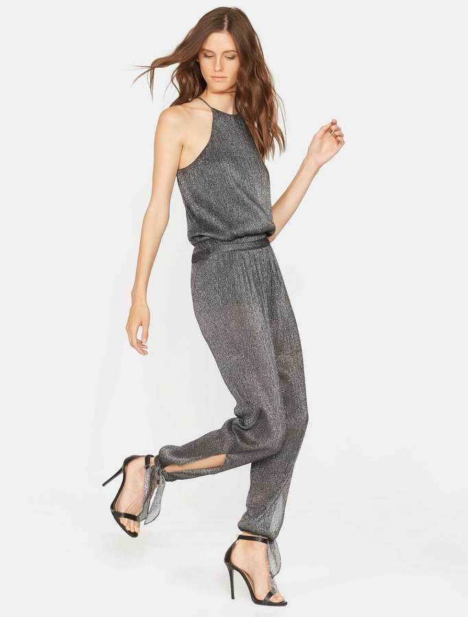 Halston Jumpsuit with Ankle Ties