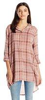 UNIONBAY Women's Mira Friday Harbor Drapey Plaid Shirt Jkt