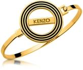 Kenzo Goldtone Reversible Logo Bangle Bracelet