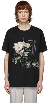 Givenchy Black Peony T-Shirt