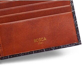 Bosca Croc Embossed Executive Leather Wallet
