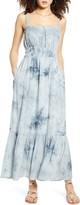 ALL IN FAVOR Smocked Waist Tie Dye Maxi Dress