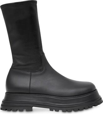 Burberry Zip-Up Calf-Length Boots