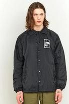 Obey Nobody's Flower Black Coach Jacket