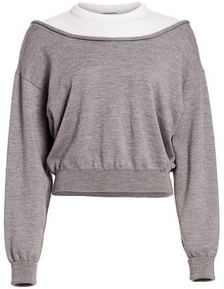 Alexander Wang Bi-Layer Cropped Pullover