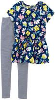 CARTERS Carter's 2pc Floral & Stripe Legging Set- Preschool Girl