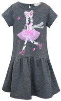 Truly Me Toddler Girl's Dimensional Graphic Dress