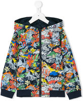 Kenzo Dancing Cactus hooded jacket - kids - Polyamide - 8 yrs