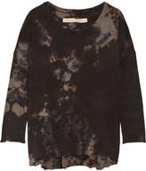 Raquel Allegra Tie-dyed Cotton-blend Jersey Top - Black