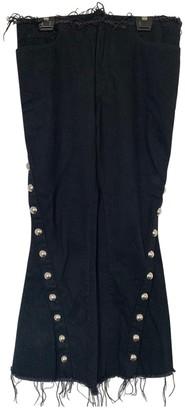 Marques Almeida Black Cotton Jeans