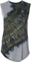 Raquel Allegra tie-dye detail tank top - women - Cotton/Polyester - 0