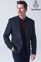 Next Mens Blue Signature Harris Tweed Wool Tailored Fit Jacket