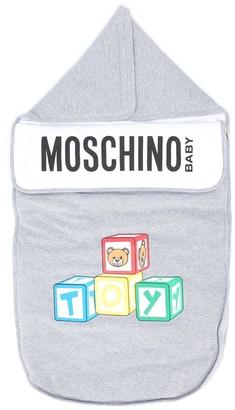 MOSCHINO BAMBINO Toy Logo Print Sleeping Bag