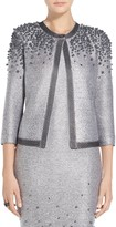 St. John Hand Beaded Pearl Knit Jacket