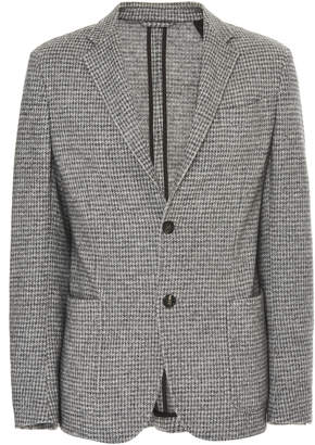 Ermenegildo Zegna Houndstooth Cashmere And Silk-Blend Blazer