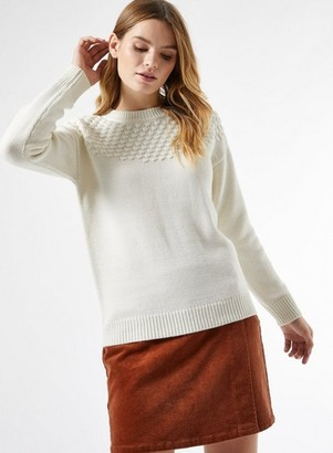 Dorothy Perkins Womens Ivory Bobble Yoke Jumper, Ivory