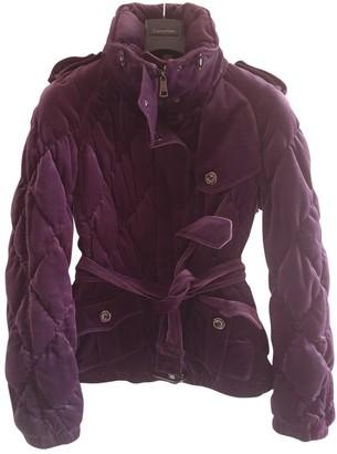 Burberry Purple Velvet Coat for Women