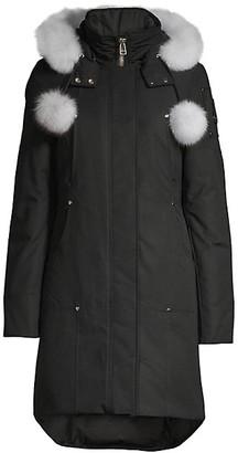 Moose Knuckles Stirling Blue Fox Fur-Trim Down Parka