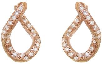 hum Diamond Chain Earrings - Rose Gold
