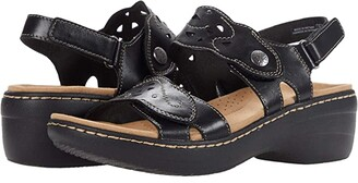 Clarks Merliah Dove (Black Leather) Women's Shoes