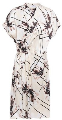 Equipment Leonce Pleated Printed Washed-silk Mini Wrap Dress