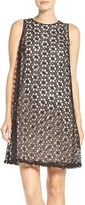Adrianna Papell Women's Lace Trapeze Dress