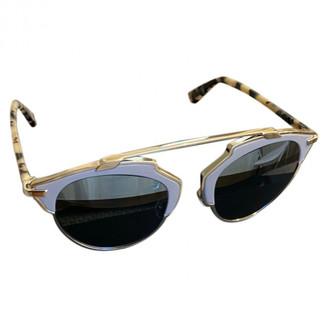 Christian Dior So Real Grey Plastic Sunglasses